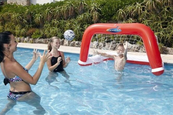Cage de waterpolo gonflable pour piscine