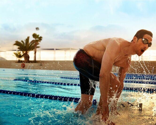 Caleçon de bain imprimé rouge spécial natation Speedo Swim Fitness 2014
