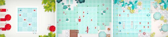 """Captures d'écran du jeu Swim Out<span class=""""normal italic petit"""">© Lozange Lab</span>"""