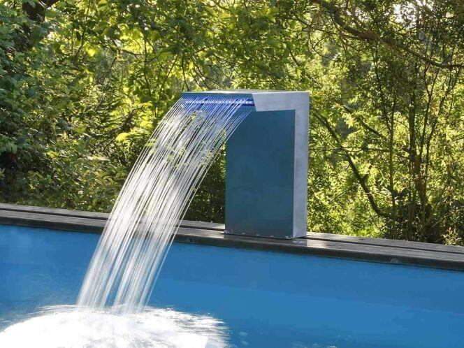 Cascade de piscine Straight LED en inox© Jardidéco