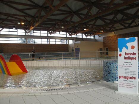 La pataugeoire et le bassin ludique de la piscine à Issoire