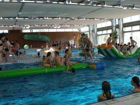 """La piscine Aquamaris à Cordemais propose des activités pour petits et grands<span class=""""normal italic petit"""">DR</span>"""