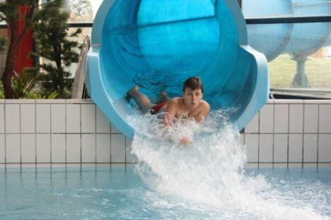 "Aquaval à Gaillon : le toboggan !<span class=""normal italic"">DR</span>"
