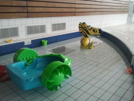 """La pataugeoire pour les enfants au Centre Aquatique Aquavexin <span class=""""normal italic petit"""">DR</span>"""