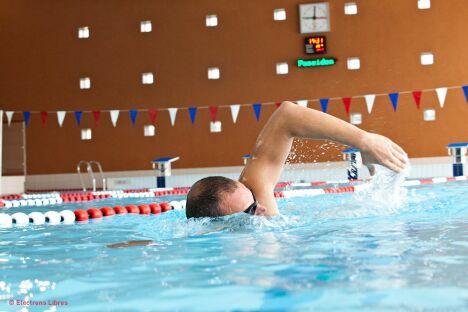 """Le bassin sportif de la piscine du Clermontais à Clermont l'Hérault<span class=""""normal italic petit"""">DR</span>"""