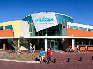 Centre aquatique du Clermontais à Clermont l'Hérault, le bâtiment de la piscine