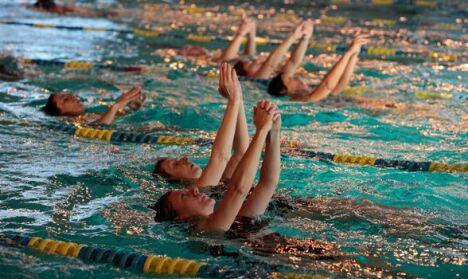 """La natation synchronisée au Centre Nautiques de Thionville.<span class=""""normal italic petit"""">DR</span>"""