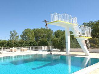 Les plongeoirs de la piscine Neptune à Montpellier