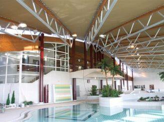 La bassin ludique de la piscine à Saverne