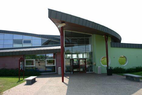 """Centre Nautique Océanide à Saverne : l'entrée<span class=""""normal italic petit"""">DR</span>"""