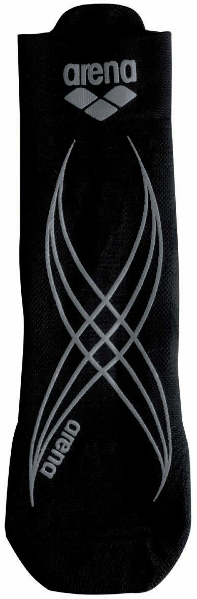 Chaussette d'aquagym anti-dérapante noire et blanche Arena