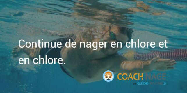 Citation natation - Continue de nager en chlore et en chlore !