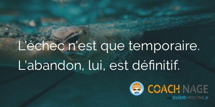 Citation Natation L Echec Est Temporaire L Abandon Lui Est