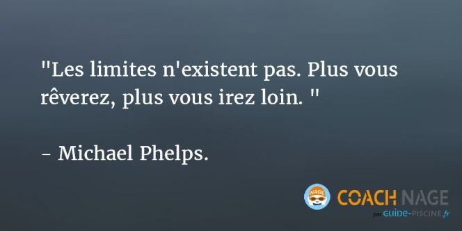 "Citation natation - Michael Phelps  <span class=""normal italic petit"">DR</span>"