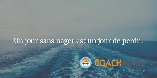 """Citation natation - Un jour sans nager est un jour de perdu <span class=""""normal italic petit"""">DR</span>"""
