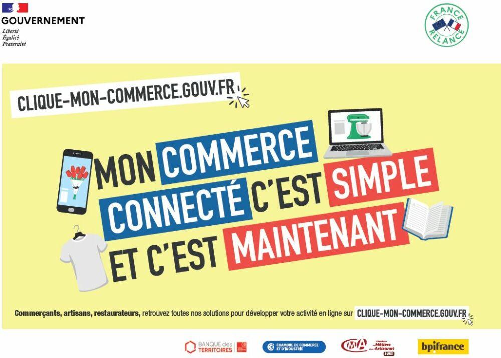 Clique Mon Commerce : aider les artisans et commerçants de proximité à développer leur activité en ligne© clique-mon-commerce.gouv.fr