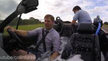 Vidéo : il transforme sa voiture en piscine roulante