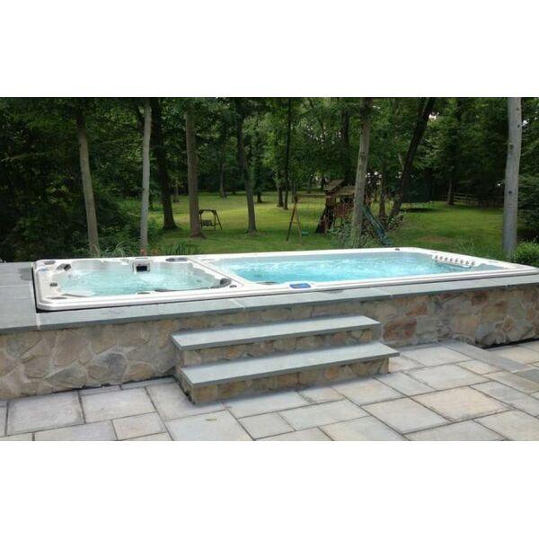 le prix d un spa de nage bi zone. Black Bedroom Furniture Sets. Home Design Ideas