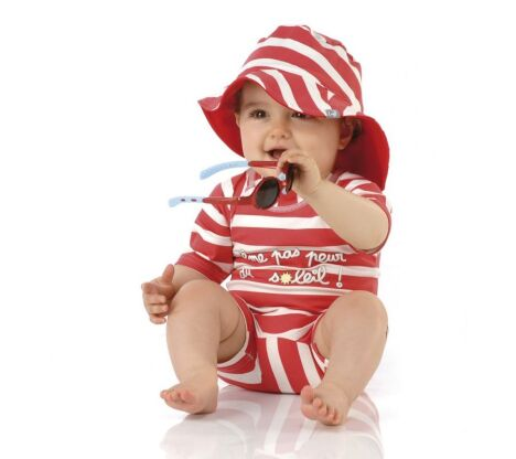 Combinaison anti-UV pour bébé rayée Goelette
