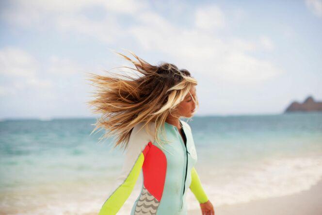 Combinaison de surf intégrale femme pastel et fluo Billabong été 2013