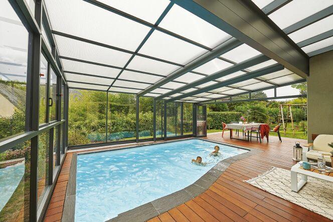 Abri de piscine - Abri Attik angulaire
