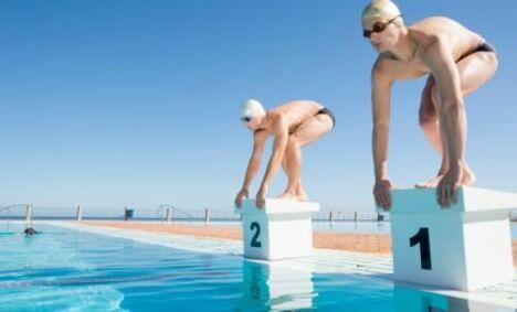 "Compétitions de nage<span class=""normal italic petit"">DR</span>"