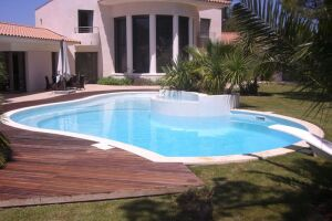 Mosaïque de piscine bleu - concept-mosaique.com