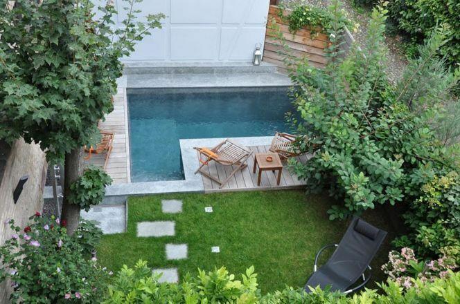 "Les minis piscines, citadines et urbaines, idéales pour les petits espaces<span class=""normal italic petit"">© L'Esprit Piscine</span>"