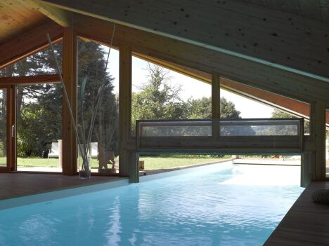 Couloir de couloir de nage intérieur/extérieur Carré Bleu