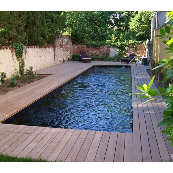 Couloir de nage bluewood for Piscine bois liner noir