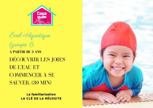 Cours d'éveil aquatique Casaswim