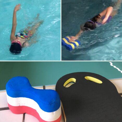 """Cours de natation pour enfants <span class=""""normal italic petit"""">© Escale Essentielle</span>"""
