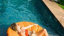 Coussin de piscine gonflable Wink Air Island orange