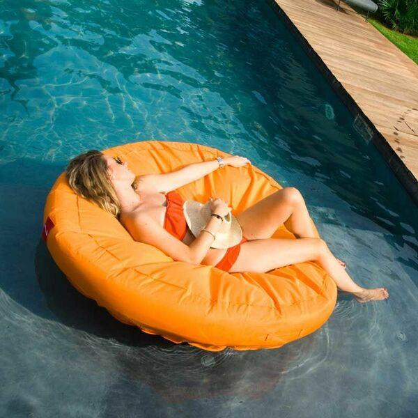 coussin de piscine gonflable wink air island orange. Black Bedroom Furniture Sets. Home Design Ideas