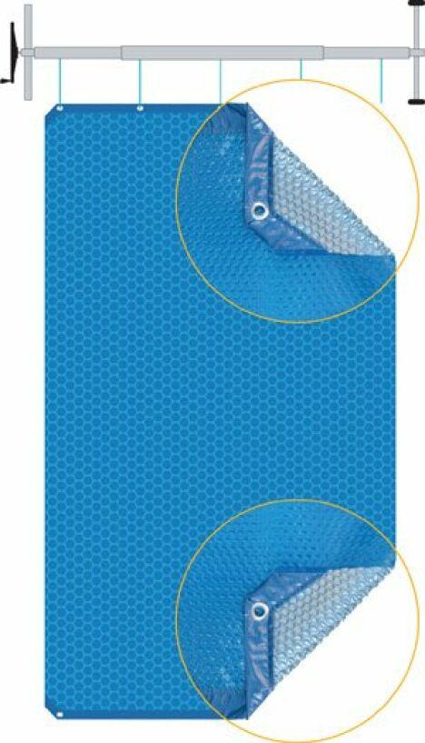 """Couverture à bulles isothermique Duo<span class=""""normal italic petit"""">© Albon</span>"""