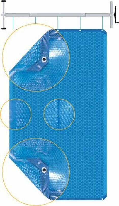 """Couverture à bulles isothermique Duolis<span class=""""normal italic petit"""">© Albon</span>"""