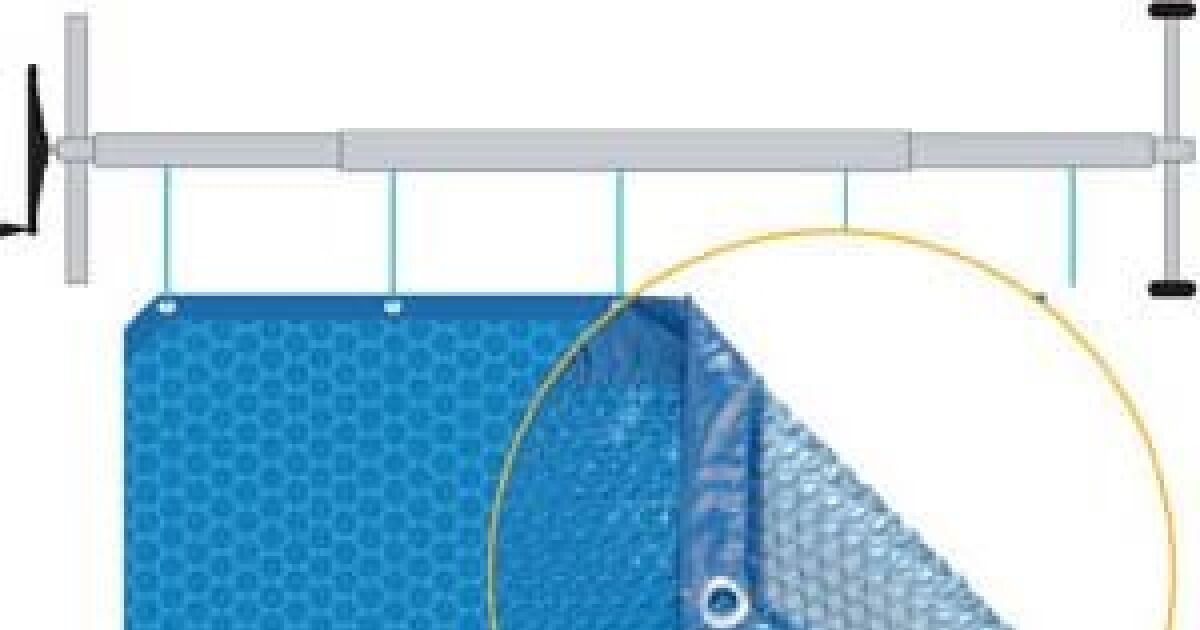 Couverture bulles isothermique piscine solo - Couverture piscine saisons creteil ...