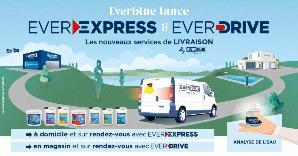 COVID-19 : Everblue Piscines propose de nouveaux services de livraison à domicile et en drive© Everblue