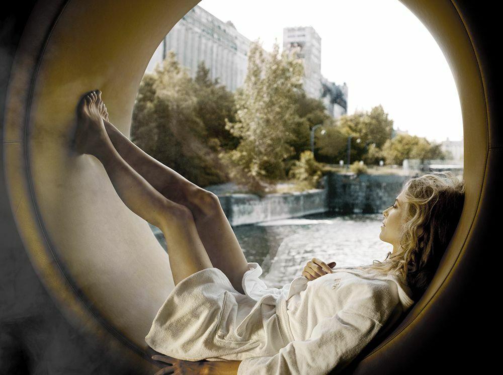 De nombreux espaces de relaxation au spa Bota Bota© botabota.ca