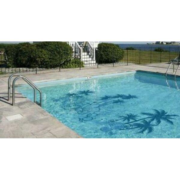 D co les stickers de piscine - Carrelage autour piscine ...
