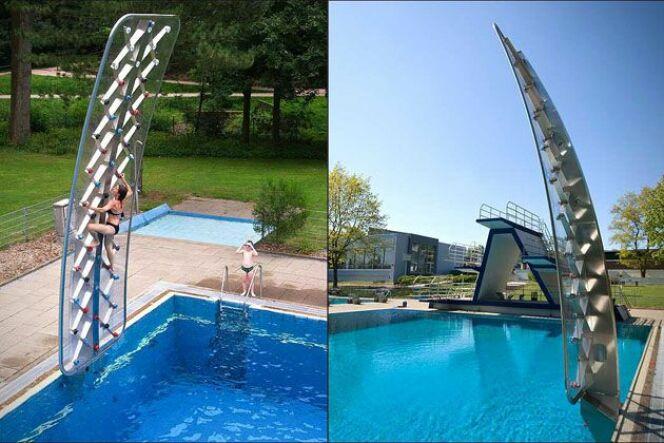 Découvrez Aquaclimb, le mur d'escalade pour la piscine !