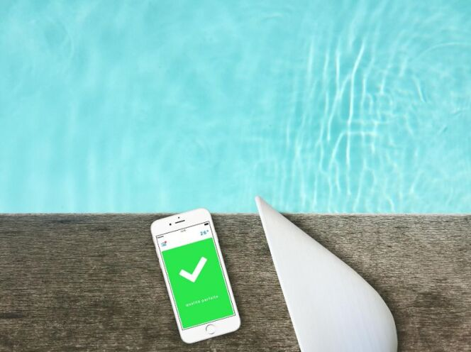 """Découvrez Flipr, un objet connecté pour piscine très prometteur.<span class=""""normal italic petit"""">© Flipr</span>"""