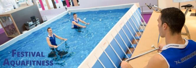 """Découvrez les derniers produits fitness à Piscine Global !<span class=""""normal italic petit"""">© Festival AquaFitness - Piscine Global</span>"""