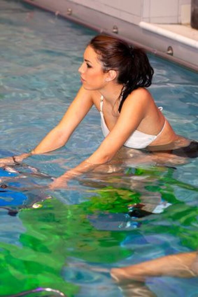 """Découvrir l'aquabiking et les bienfaits du vélo en piscine<span class=""""normal italic petit"""">© Christophe Fouquin - Fotolia.com</span>"""