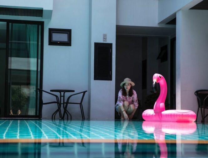 Des accessoires gonflables pour piscine