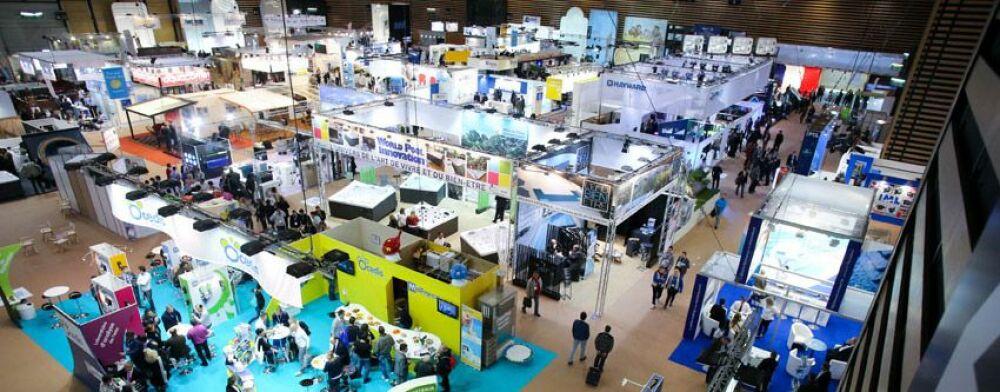 Des professionnels sont venus du monde entier pour le Salon Piscine Global.© Piscine Global