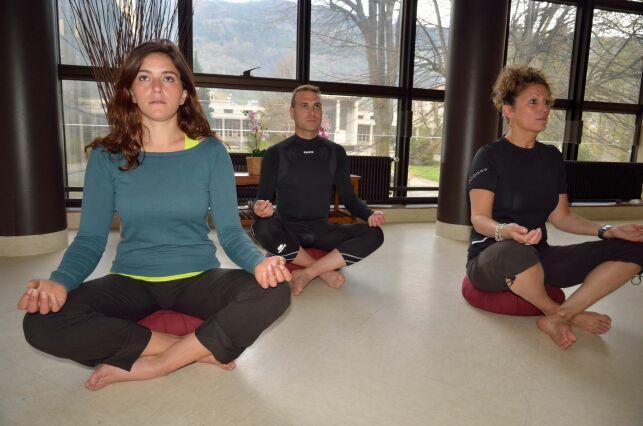 Des séances de relaxation sont proposées aux thermes d'Allevard-les-Bains.