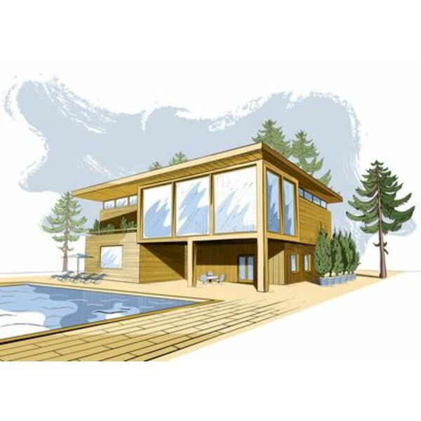 Les dessin et croquis de piscine un moyen de r aliser la for Construction piscine 3d