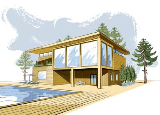 """Le dessin ou croquis de piscine vous permet de mieux visualiser votre future installation.<span class=""""normal italic petit"""">© alchena - Fotolia.com</span>"""