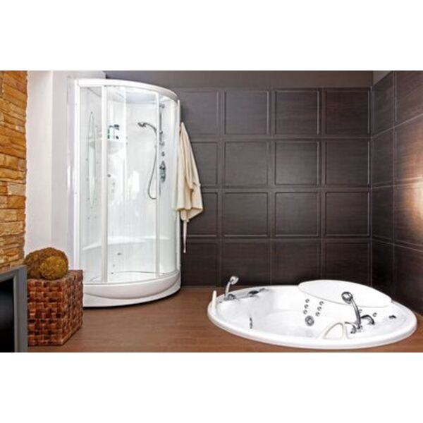 douche hammam sauna le trois en un du bien tre. Black Bedroom Furniture Sets. Home Design Ideas